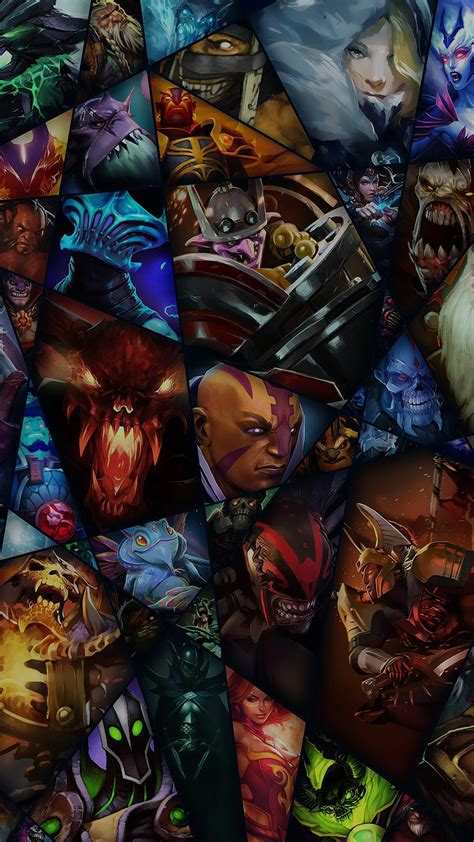 dota characters game colorful android wallpaper