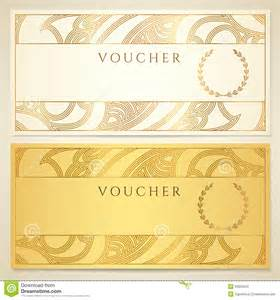 Voucher Certificate Template by Voucher Gift Certificate Coupon Template Stock