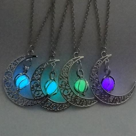 glow in the bead necklaces glow in the crescent moon necklace alliance network usa