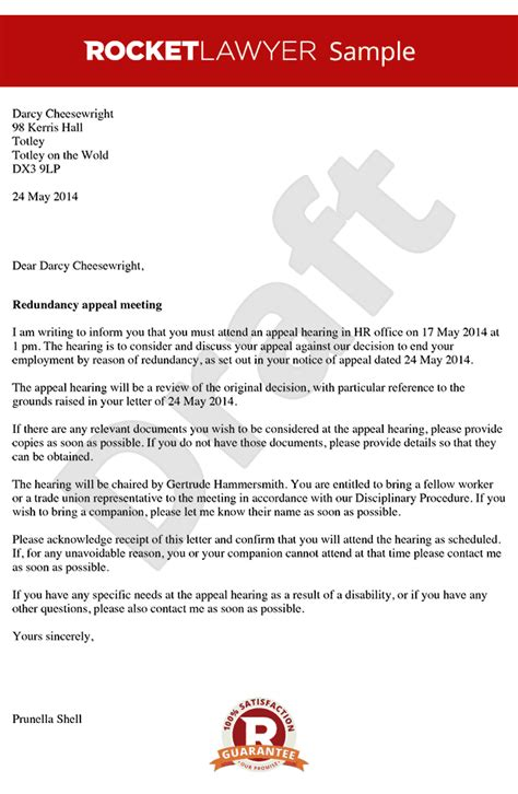 Appeal Hearing Letter invitation notice sle pertamini co