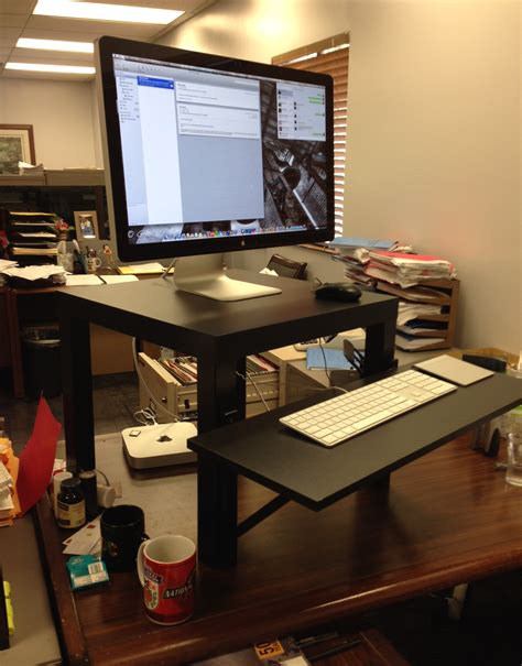Stand Up Desk Ikea Hack Standing Desk Hack Roselawnlutheran