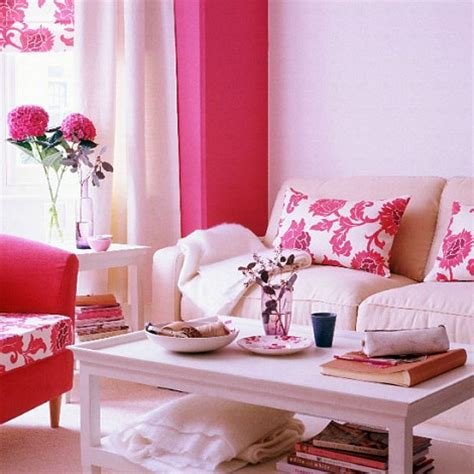 pink interior design using the feminine shades of pink for the interiors