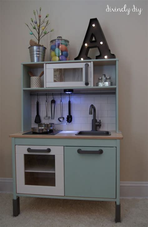 ikea play kitchen divinely diy ikea duktig makeover