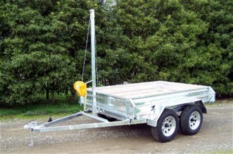 boat trailer winch nz tipping trailers trayla trailers levin nz