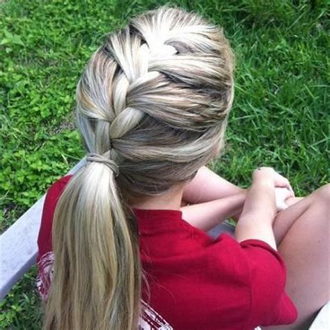 soccer haircut steps 25 best ideas about french braid ponytail on pinterest