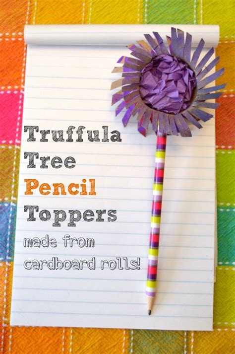 How To Make Truffula Trees Out Of Tissue Paper - cardboard roll craft truffula tree pencil toppers inner