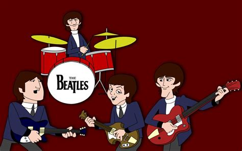 wallpaper cartoon band the beatles cartoon tv show wallpaper and background
