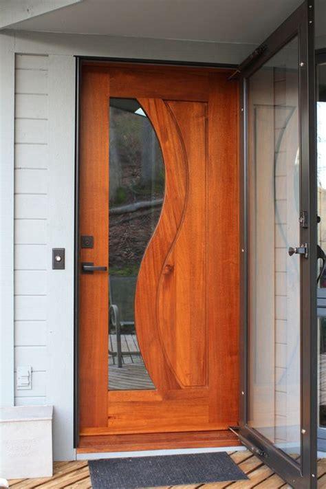 modern front door with glass panel door doors