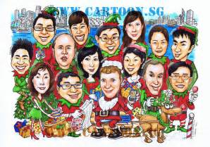Singapore Christmas Tree - merry christmas and a happy new year caricaturist has