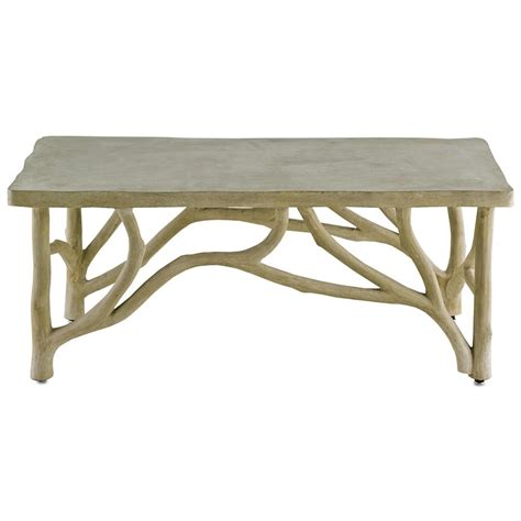 Birch Coffee Table Elowen Rustic Lodge Concrete Birch Coffee Table Kathy Kuo Home