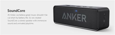 Anker Soundcore Bluetooth Speaker Dual Driver 24 Hours Playtime anker soundcore bluetooth speaker with 24 hour playtime 66 foot bluetooth range