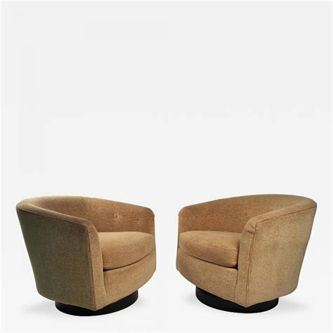 Milo Baughman Lounge Chairs by Milo Baughman Milo Baughman Swivel Lounge Chairs