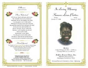 templates for obituary programs archives ebooktracker