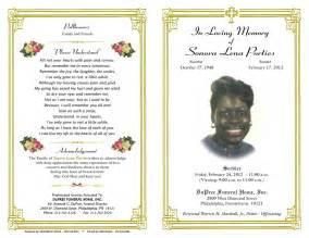 Free funeral program templates