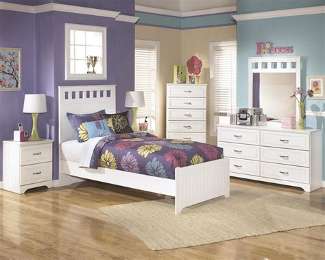 bedroom sets twin size ashley lulu b102 twin size panel bedroom set 6pcs in white