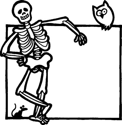 skeleton coloring pages kids coloring