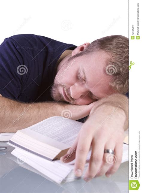 Student Sleeping On Desk by College Student Sleeping On His Desk Stock Photo Image