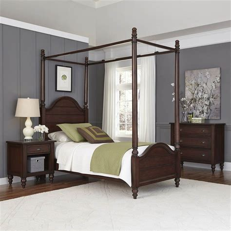 3 pc bedroom set in chestnut finish express home decor