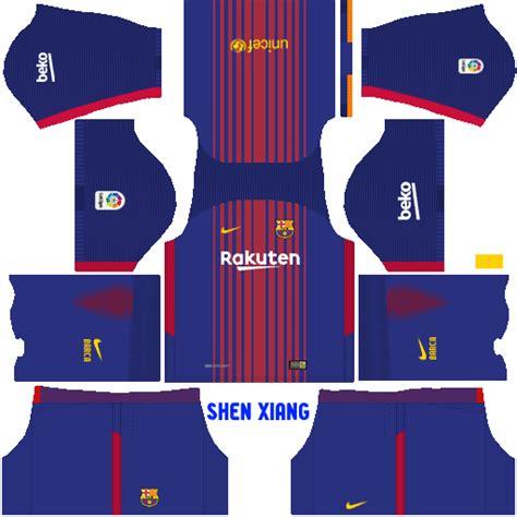 barcelona dls kit update fc barcelona 2017 18 kit dls fts