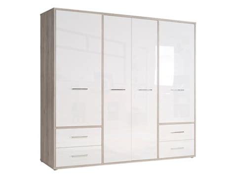 armoire 4 porte armoire 4 portes 4 tiroirs selena chene taupe