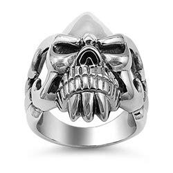 Skull Ring Titanium Sr 067 stainless steel ring fleur de lise skull sr 885 n