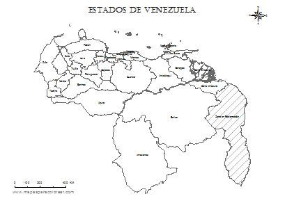 imagenes de venezuela para colorear mapa de venezuela por estados con regi 243 n de esequibo para