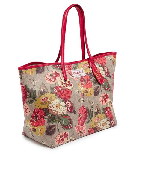 Cath Kidston 7 cath kidston leather trim large tote in fall bloom print lyst