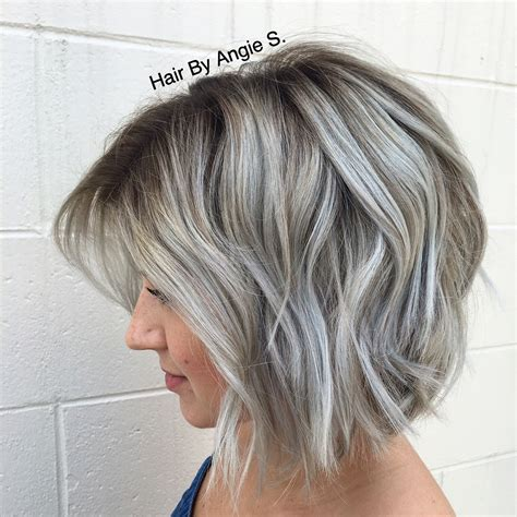 bayalage grey hair so obsessed with my hair dimensional silver grey