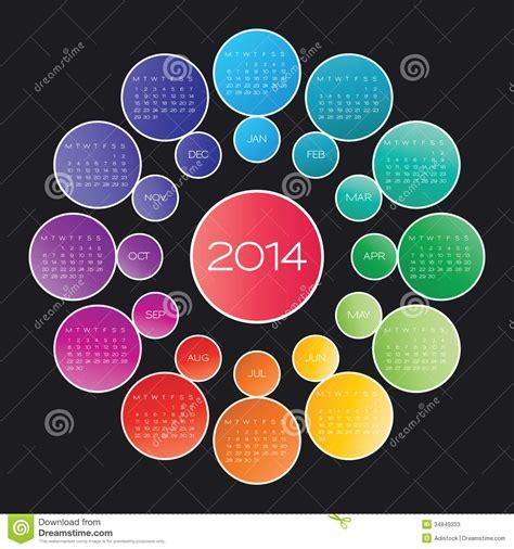 calendar 2014 vector stock photos image 34849333