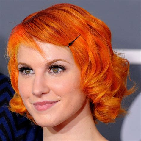 Bright Orange Hair Color | hayley william s hair images short bright orange hair hd