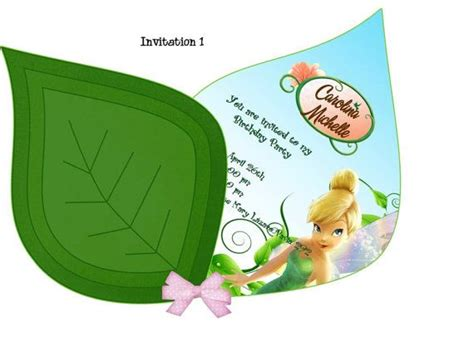 printable invitations tinkerbell tinkerbell invitation