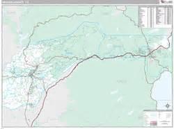 nevada county ca wall map premium style by marketmaps