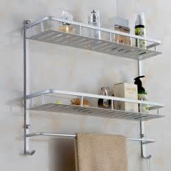 wall mounted bathroom shelves 40 50cm bathroom rack one two layers with hock bath towel