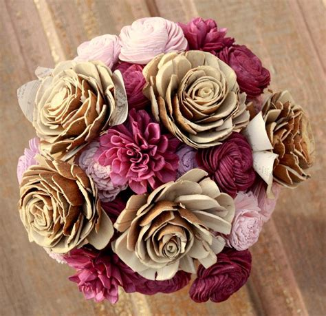 Wedding Bouquet Eggplant by Eggplant Wedding Bouquet Sola Wooden Flower Bouquet