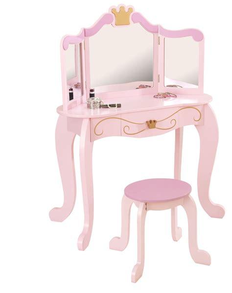 Girls pink princess vanity unit dressing table set