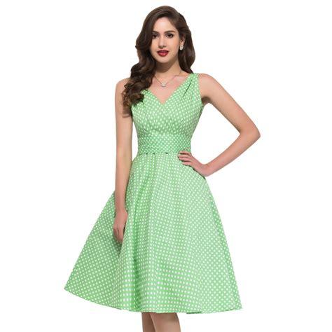 Polka Dress Hq 1 dress 2017 summer style robe ete 50s swing vintage polka dot dresses sleeveless vestidos