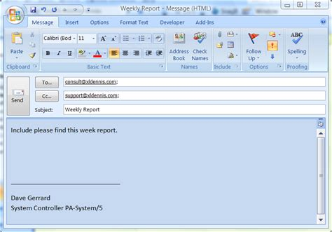 Vsto Automate Ms Outlook In Excel Using Template Vsto Net Excel Outlook Email Template