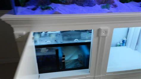 aquarium custom  stand canopy  sump youtube