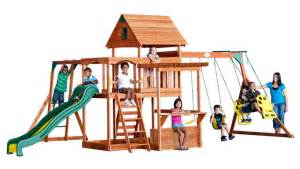 Backyard Discovery Prairie Ridge Swing Set by Backyarddiscovery Playset Assembly