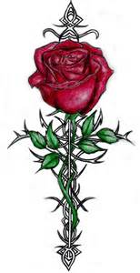 rose tattoo designs crucifix tattoos tattoos
