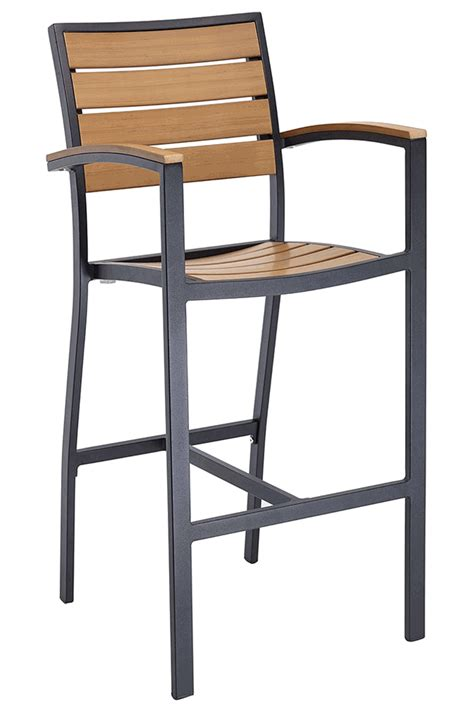 restaurant outdoor bar stools florida seating commercial aluminum teak inspired outdoor