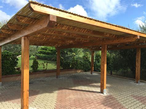 tettoie fai da te costruire tettoia in legno