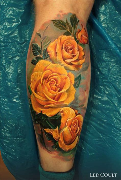 yellow rose tattoo 40 eye catching tattoos nenuno creative