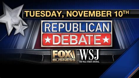 fox business republican presidential debate  tonight bgr