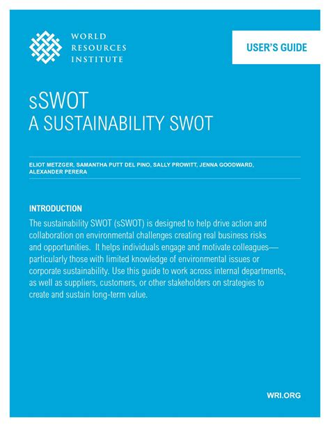 Corporate Sustainability Mba by New Sswot Guide Can Help Boost Corporate Sustainability