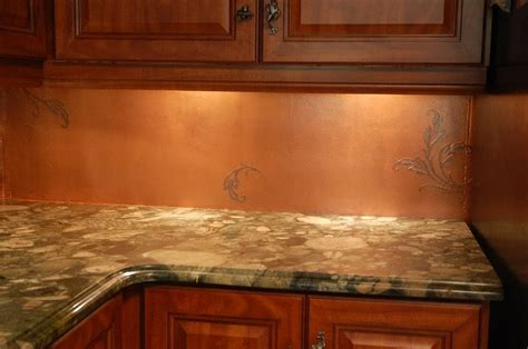 these faux walls copper backsplash