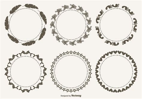 frames vector free decorative frames set free vector