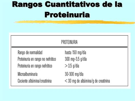 cadenas ligeras kappa y lambda valores normales proteinuria y sus causas