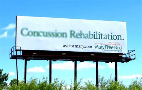 mary free bed hospital mary free bed rehabilitation hospital outdoor advert by