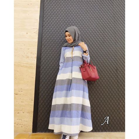 Ayunda Dress Tunik alma dress a baju muslim gamis modern
